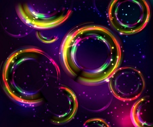 bubbles, lights, and glow image