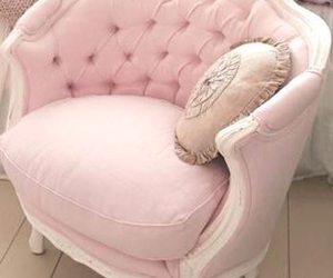 furniture, pink, and pink chair image