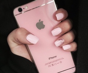 pink, iphone, and nails image