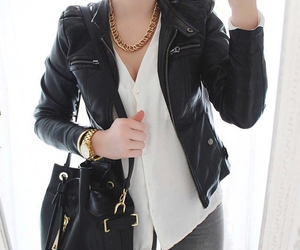black, jacket, and fashion image