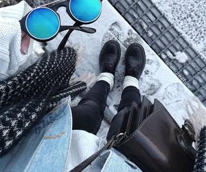 fashion, blue, and grunge image