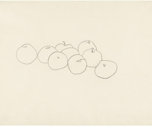 art, apples, and drawing image