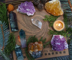 crystals, witchcraft, and wicca image