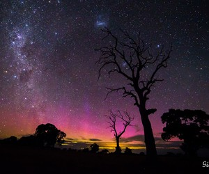beauty, light, and milky way image