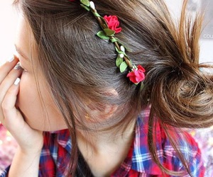 fashion, tumblr, and flower crown image