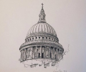 architecture, drawing, and venice image
