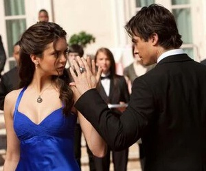 tvd, delena, and ian somerhalder image