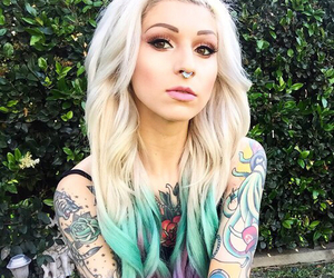 blonde, dyed hair, and indie image