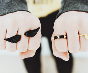 cute, rings, and fashion image