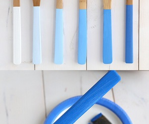 diy, kitchen, and blue image