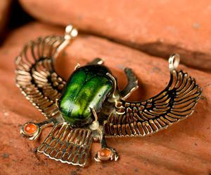 egyptian, winged, and scarab image