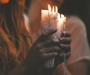 candle, grunge, and fire image
