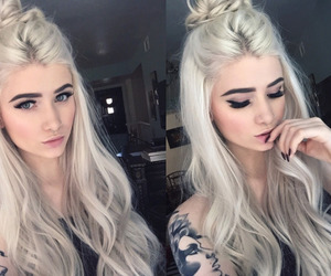 hair, makeup, and tattoo image