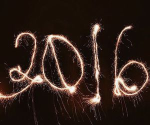 2016, new year, and light image