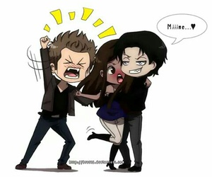 damon, elena, and stefan image