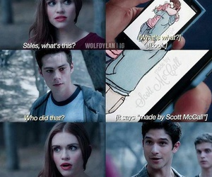 scott mccall, stiles stilinski, and stydia image