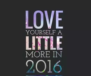 2016, be yourself, and happy new year image