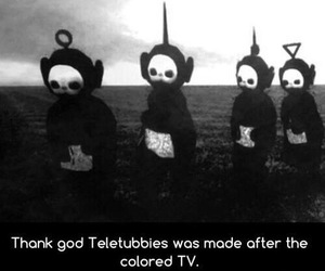 teletubbies, funny, and grunge image