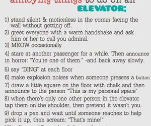 elevator, funny, and annoying image