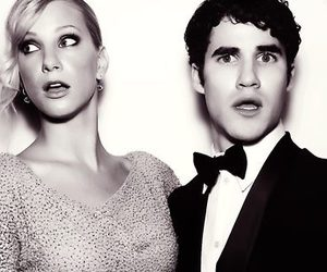 glee, heather morris, and darren criss image