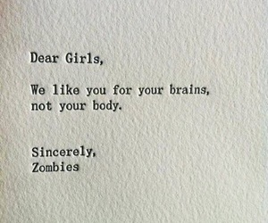 girl, zombies, and quotes image