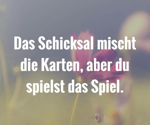 quotes, spiel, and schicksal image