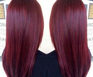 burgundy, haircolor, and haïr image