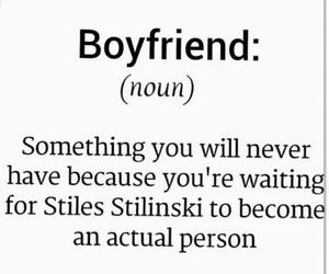 teen wolf, stiles stilinski, and boyfriend image