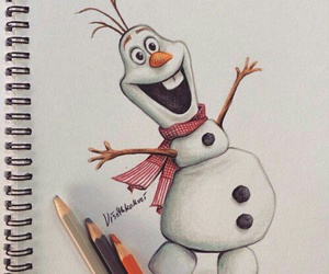 draw, disney, and frozen image