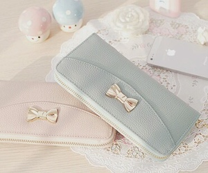 cute, purse, and blue image