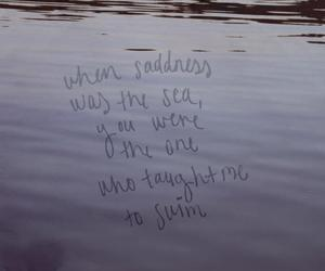sadness, water, and love image
