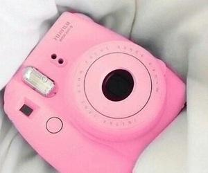 camera, purple, and polaroid image