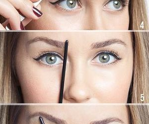 eyebrows, tutorial, and makeup image