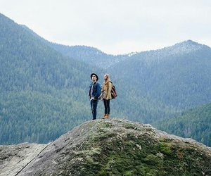nature, couple, and mountains image