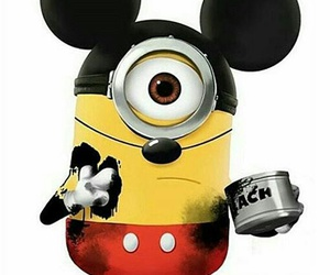 minions, yellow and black, and cute image