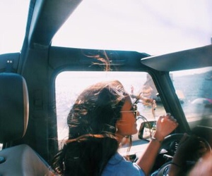 summer, girl, and car image