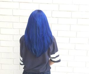 hair, blue hair, and colorful hair image