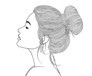 outlines, tumblr, and messy bun image