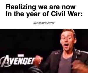 civil war, fun, and tom hiddleston image
