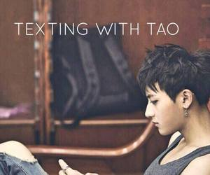 exo, tao, and texting image