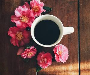 flowers, coffee, and aesthetic image
