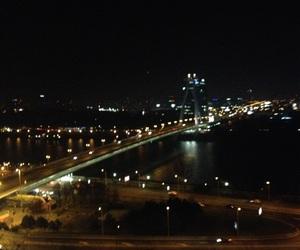 bratislava, lights, and bridge image