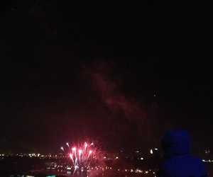 firework, lights, and night image