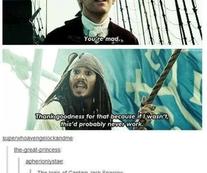 funny, sherlock, and jack sparrow image