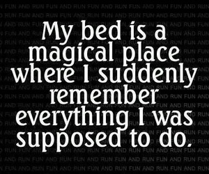 bed, quote, and remember image