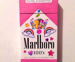 pink, marlboro, and cigarette image