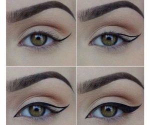 brown, classic, and eyeliner image