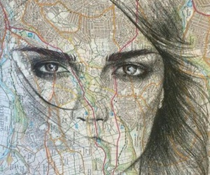 paper towns, cara delevingne, and map image