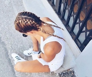 adidas, summer, and braids image