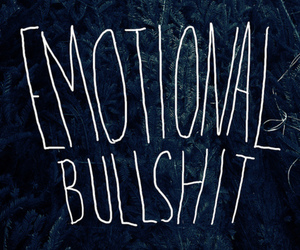 bullshit, emotional, and quote image